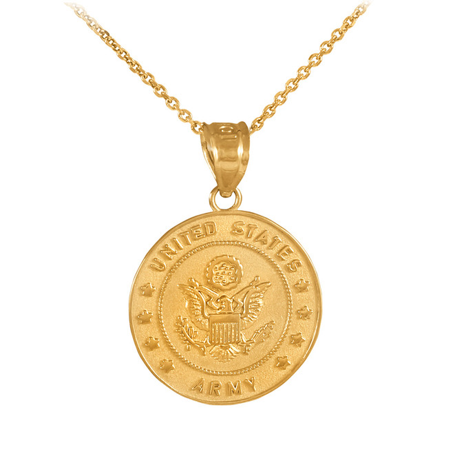 US Army Gold Coin Pendant Necklace