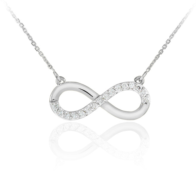 Infinity necklaces gold infinity necklaces diamond infinity sterling silver infinity pendant cz necklace aloadofball Gallery