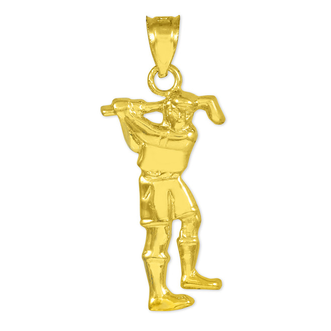 Golfer Gold Charm Sports Pendant Necklace
