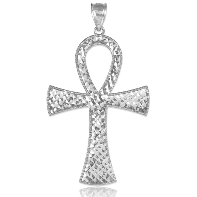 Egyptian Ankh Cross Silver Pendant