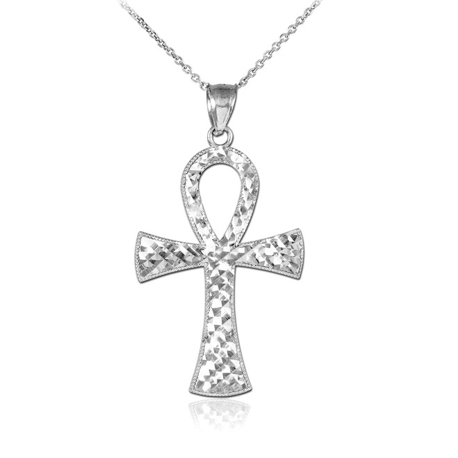 Ankh Cross Silver Pendant Necklace