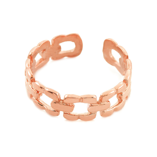 Rose Gold Chain Link Toe Ring