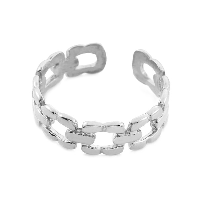 Silver Chain Link Toe Ring
