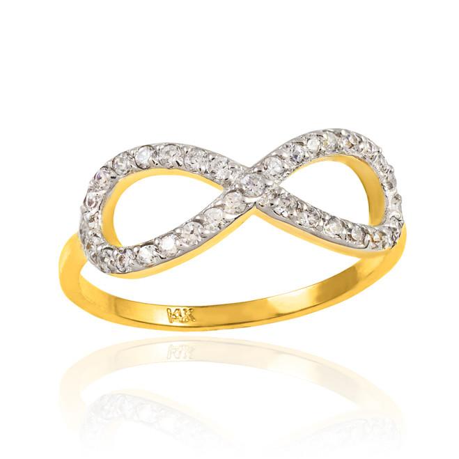 Gold Diamond Infinity Ring