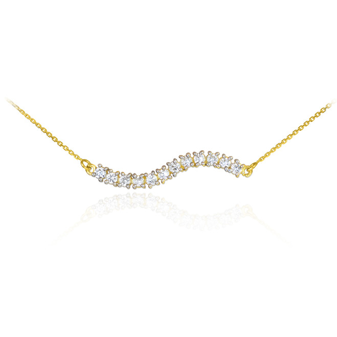 14k Gold Diamond Journey Necklace