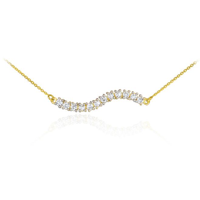 14k Gold Diamond Journey Necklace