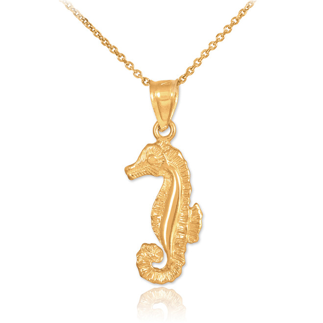 Gold Seahorse Charm Necklace