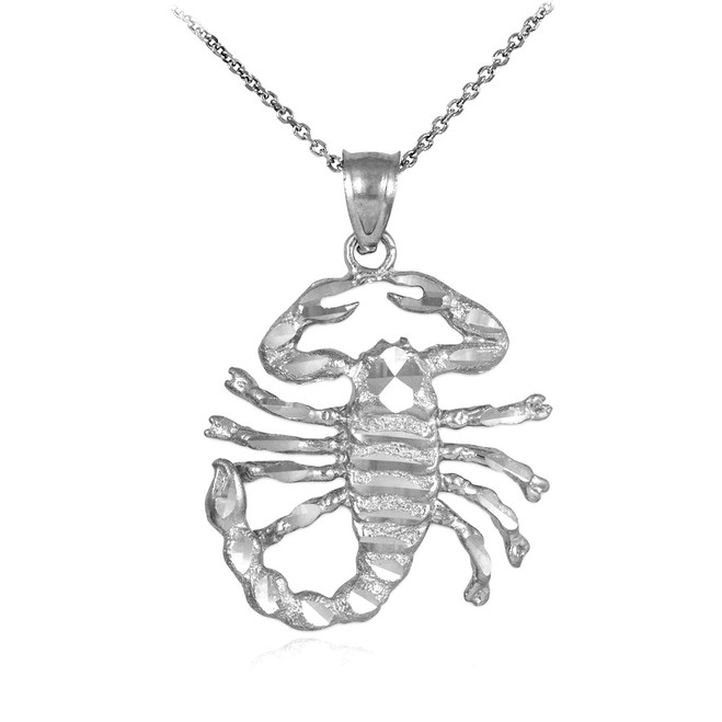 Silver Scorpion Pendant Necklace