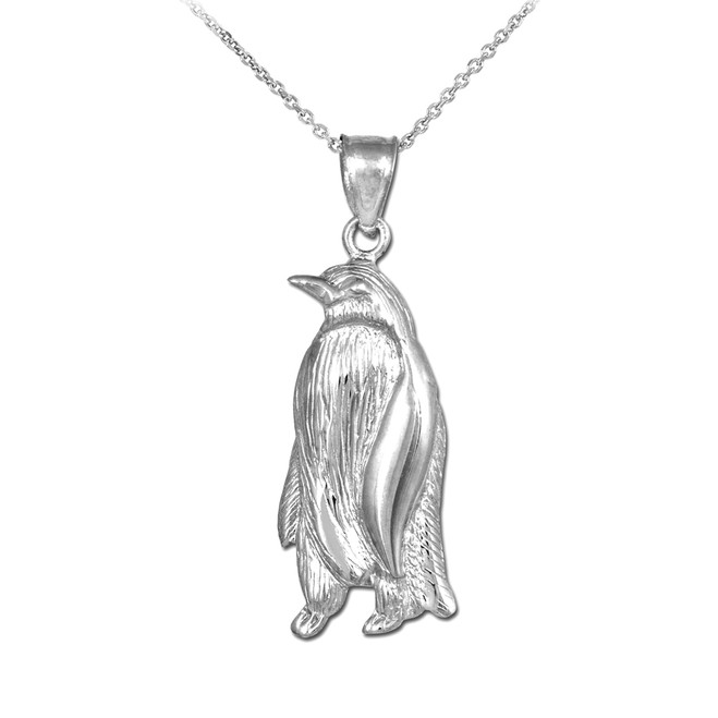 925 Sterling Silver Penguin Pendant Necklace