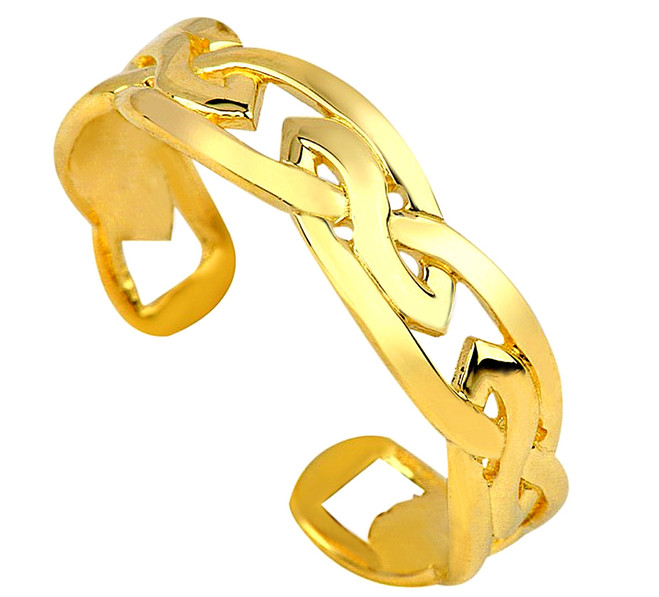 Celtic Gold Trinity Toe Ring