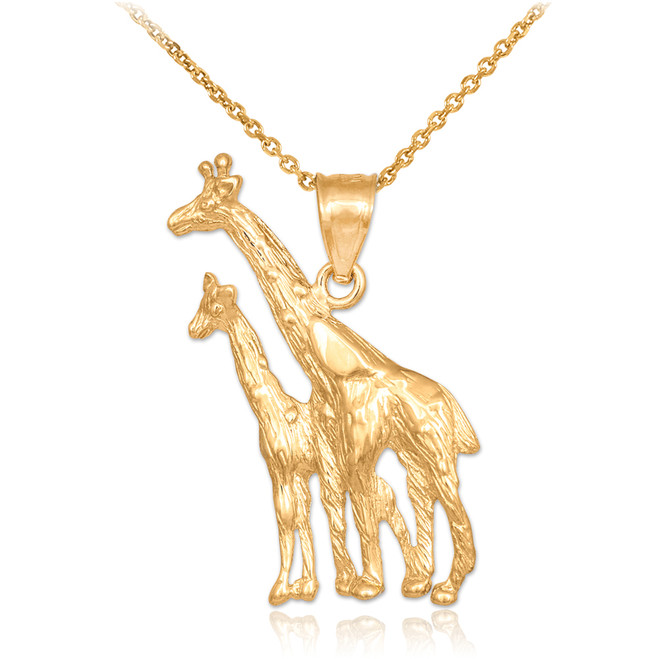 Gold Giraffe Pendant Necklace