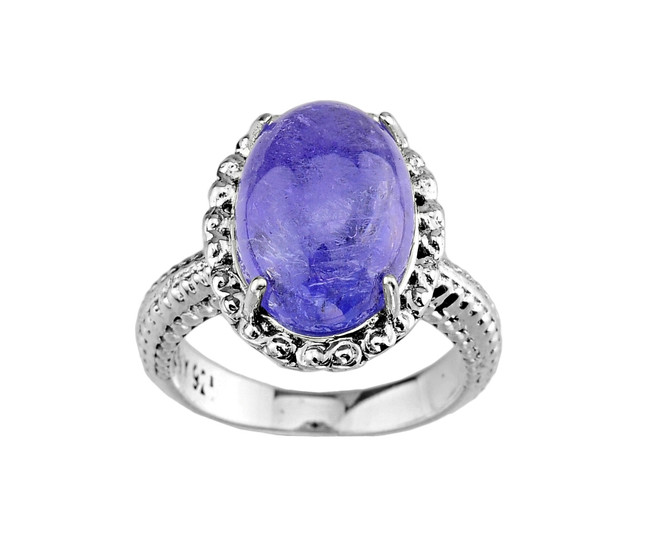 Sterling Silver Ladies Tanzanite Ring