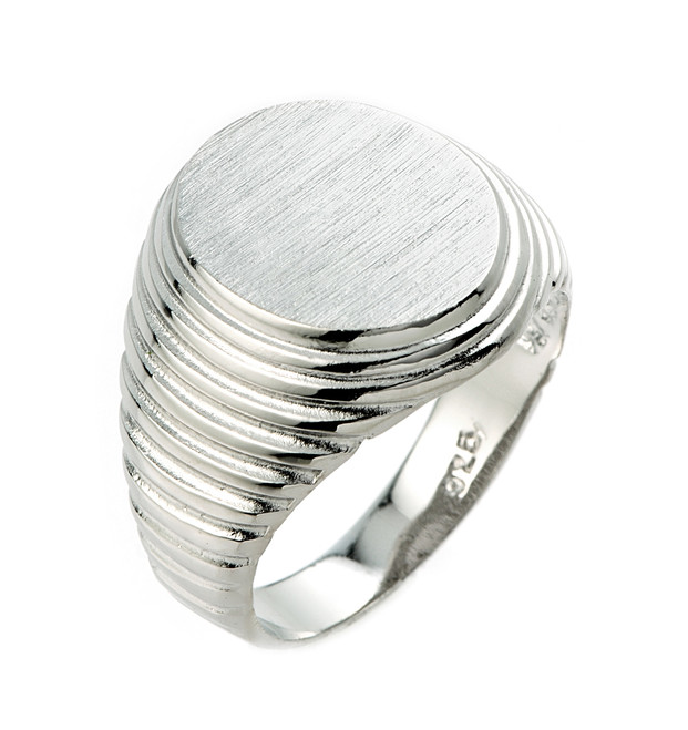 Sterling Silver Men's Signet Ring