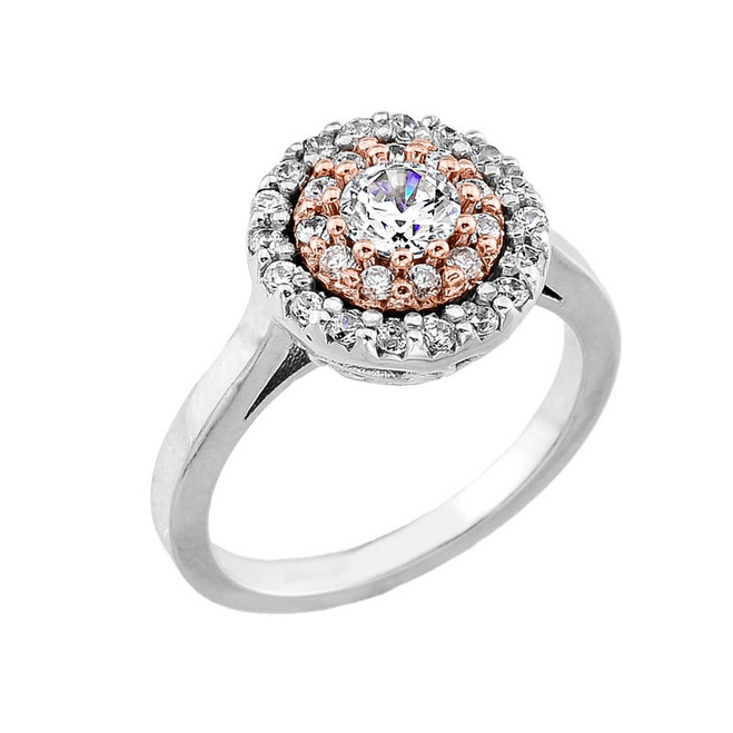 14k Two-tone Diamond Engagement Ring