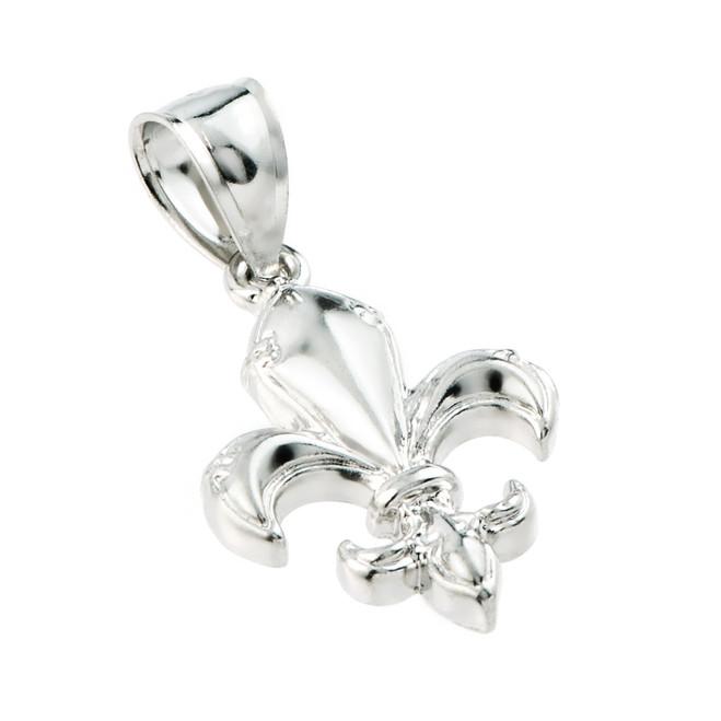 Sterling Silver Fleur-de-Lis Charm Pendant
