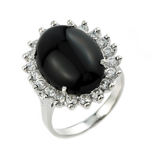 ring black onyx mens eagle p onix rings white gold