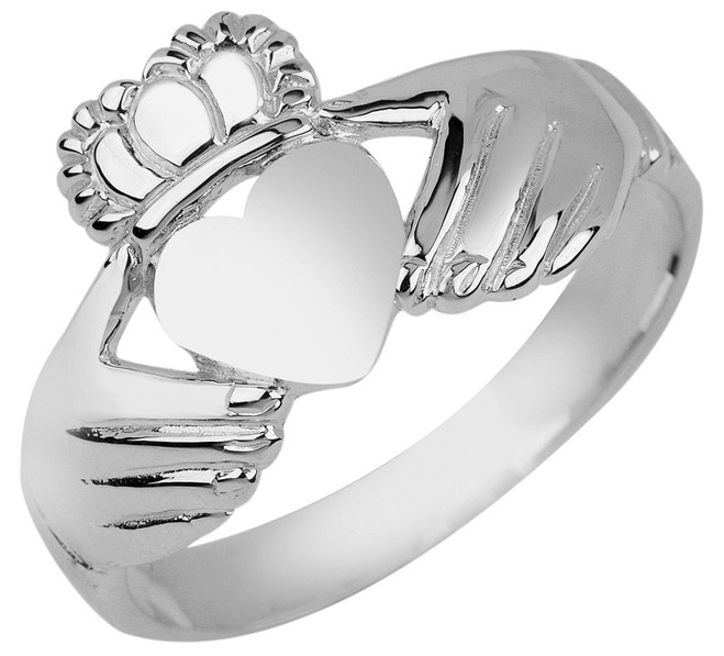 Silver Irish Claddagh Ring Ladies
