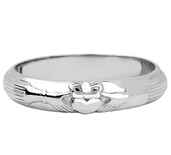 Silver Wedding Claddagh Ring