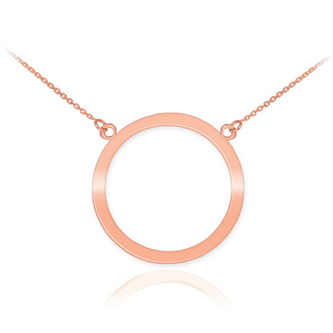 14K Rose Gold Circle Of Life Karma Necklace