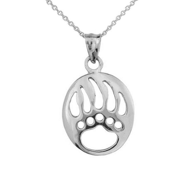 Bear pendants gold bear pendants silver bear pendants yellow 925 sterling silver openwork animal spirit charm bear paw print pendant aloadofball Images