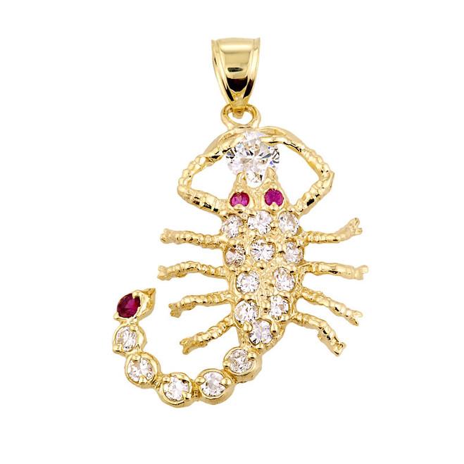 Yellow Gold Scorpion Pendant