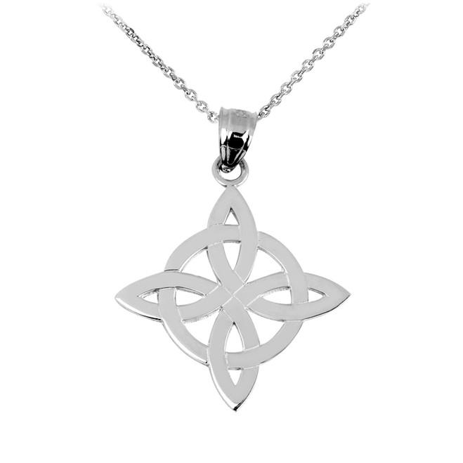 Silver Irish Celtic Trinity Pendant Necklace