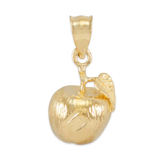 Gold Apple Charm Pendant Necklace