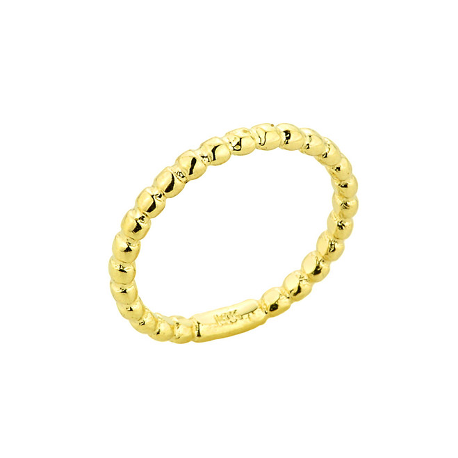 Gold Ball Chain Bead Knuckle Ring