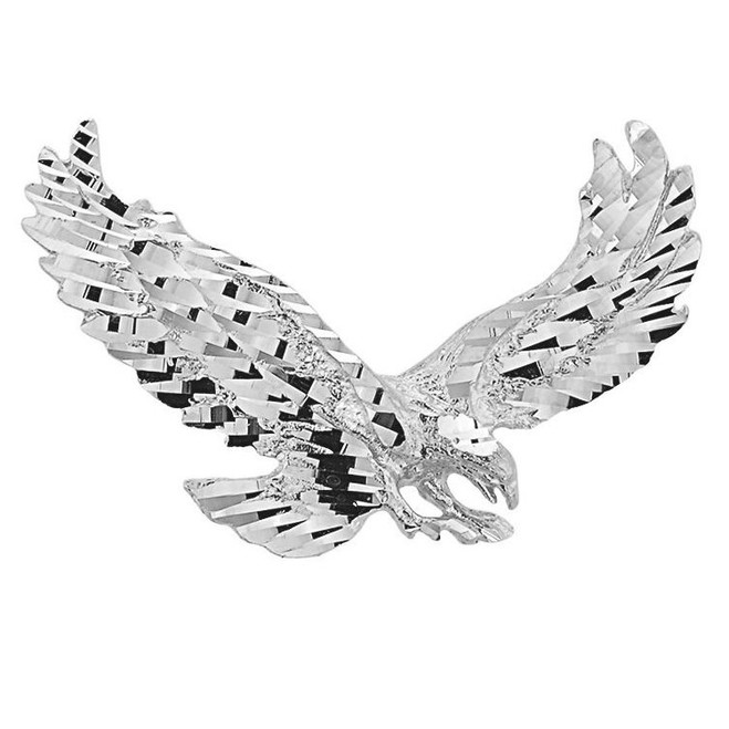 White Gold Soaring Eagle Pendant