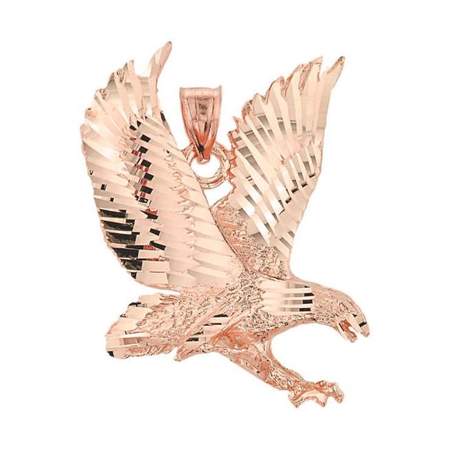 Rose Gold Eagle Pendant