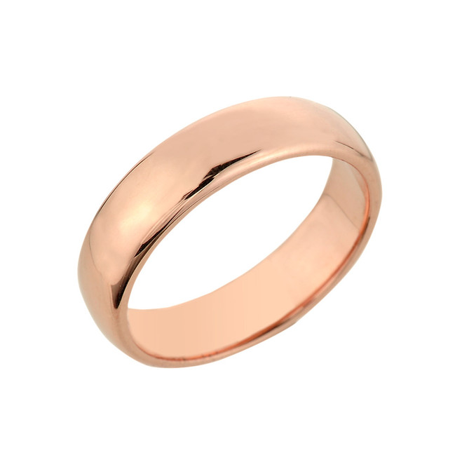 Rose Gold Classic Wedding Band - 5MM
