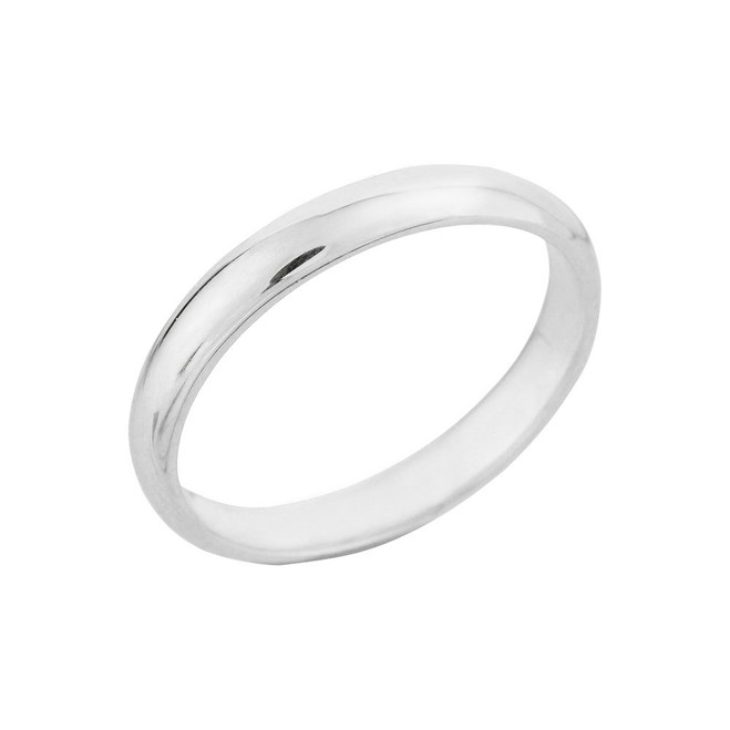 White Gold Classic Wedding Band 3MM