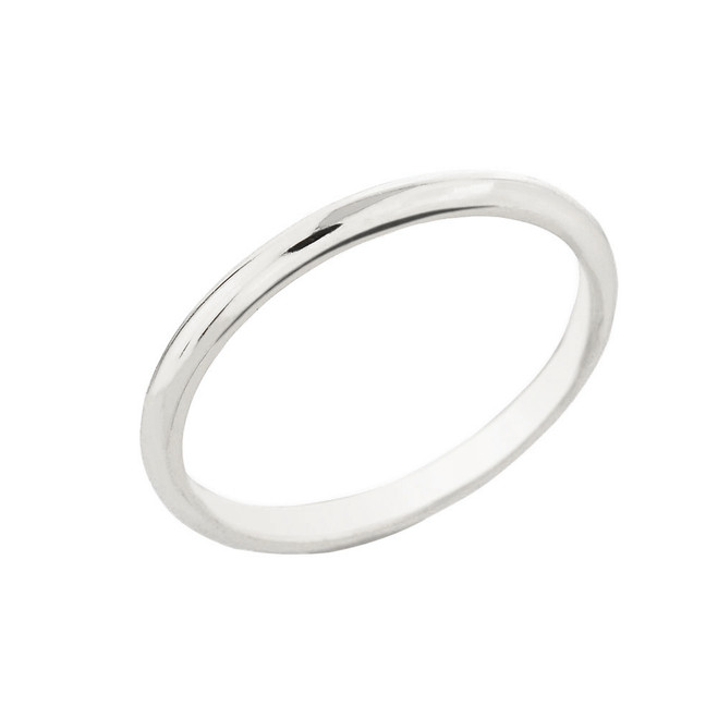 White Gold Classic Wedding Band 2MM