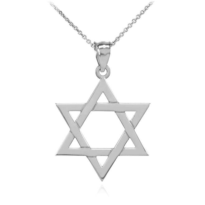 Star of david pendants gold star of david pendants sterling sterling silver jewish star of david charm pendant necklace aloadofball Images