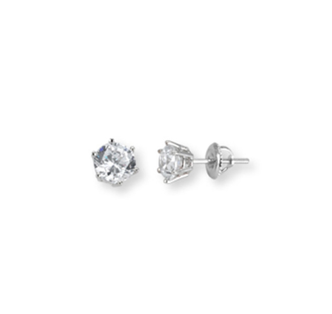 White Gold Stud Earrings1