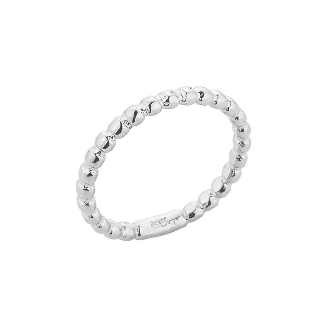 White Gold Ball Chain Bead Baby Ring