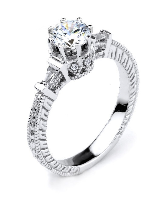 Elegant Sterling Silver 1.0 ct Cubic Zirconia Solitaire Proposal Ring