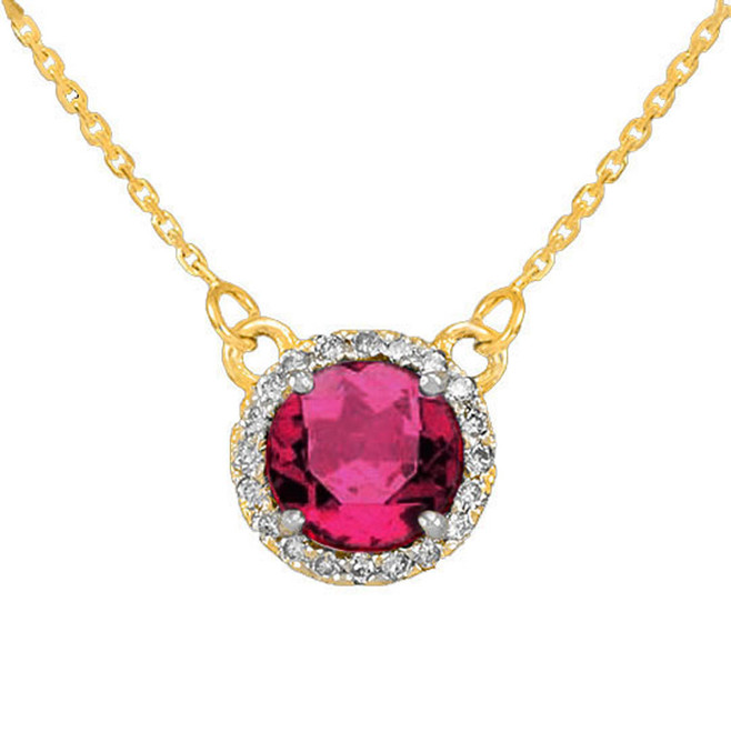 14k Gold Diamond Alexandrite Necklace