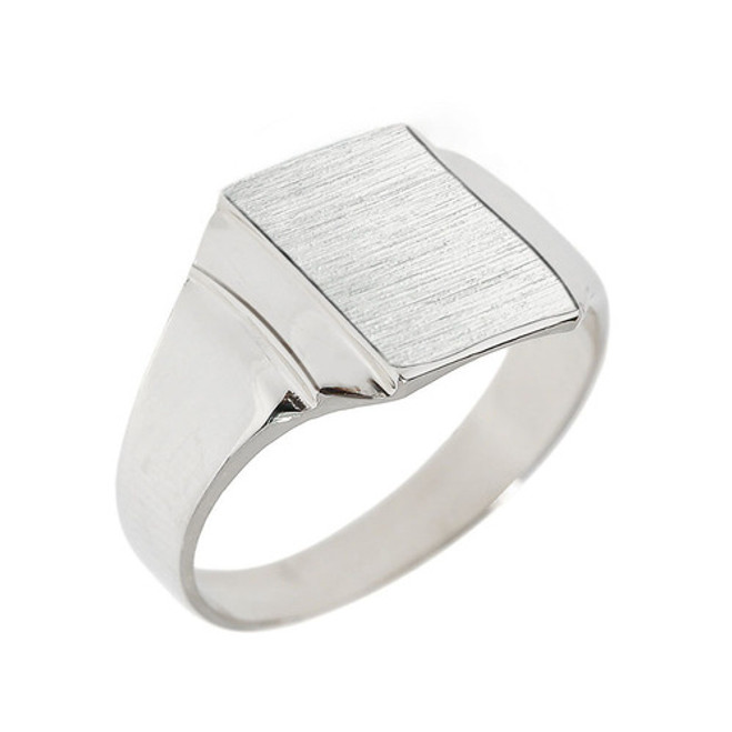 Engravable Sterling Silver Men's Signet Ring
