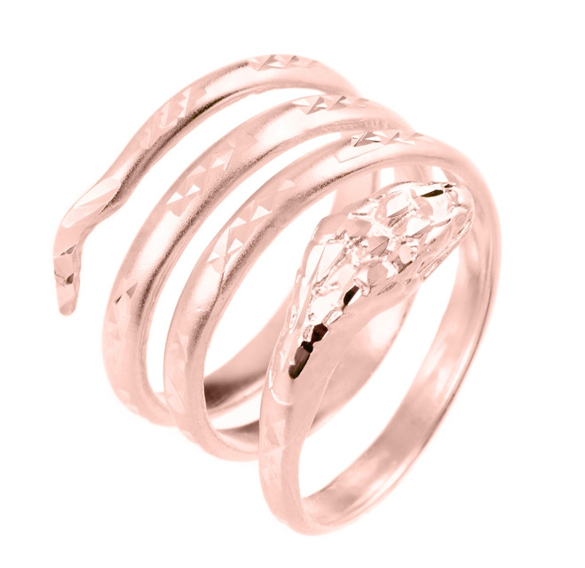 Rose Gold Snake Coiled Ring