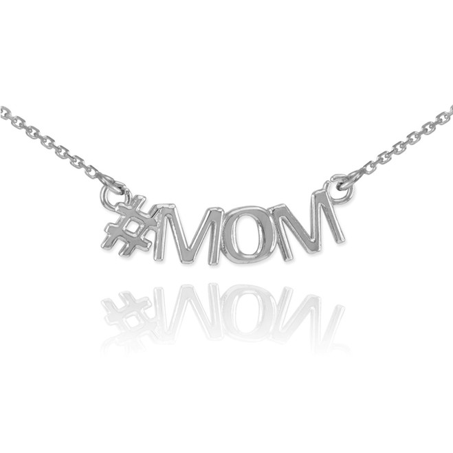 Sterling Silver #MOM Necklace