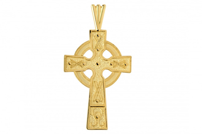 Gold Celtic Cross Charm