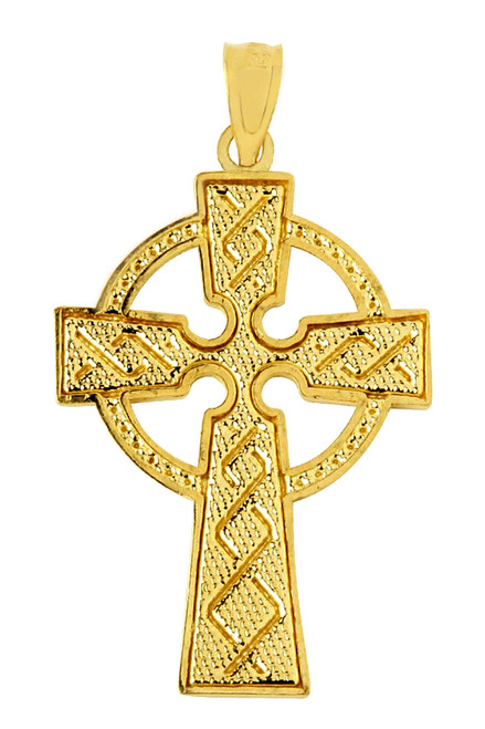 Yellow Gold Celtic Cross Pendant