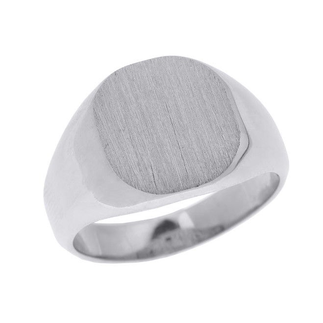 925 Sterling Silver Engravable Men's Signet Ring
