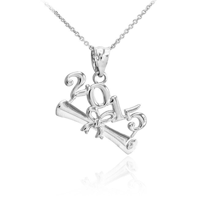 Sterling Silver 2015 Graduation Charm Pendant