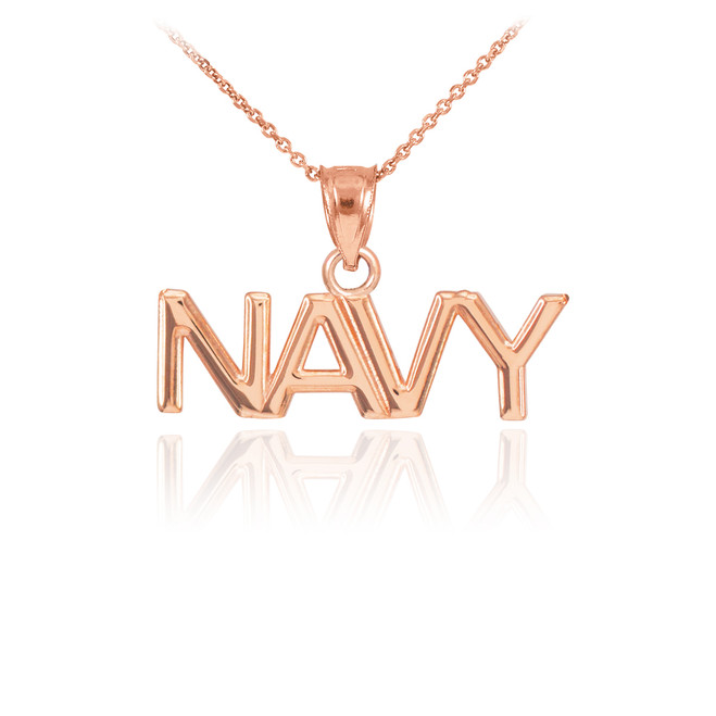 14k rose gold navy necklace rose gold navy pendant necklace aloadofball Choice Image