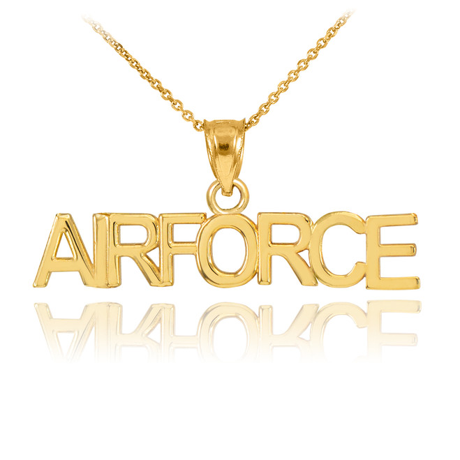 Gold AIRFORCE Pendant Necklace