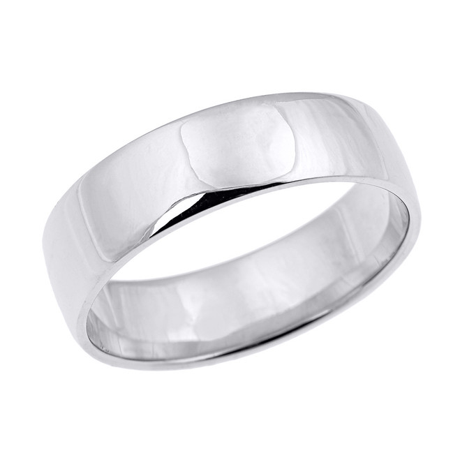 White Gold Comfort Fit Classic Wedding Band - 7 MM