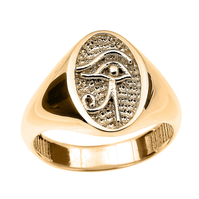 Yellow Gold Eye of Horus Ring