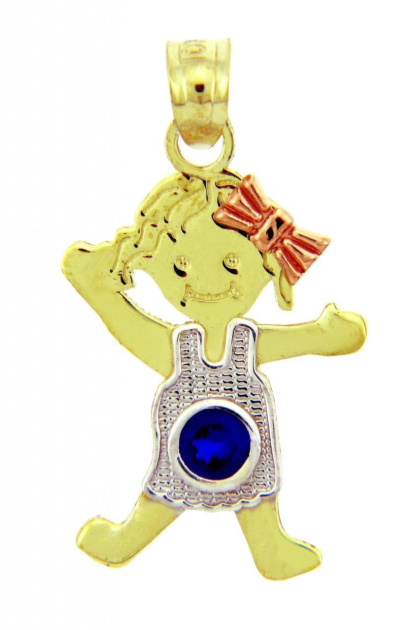 Baby charms and pendants baby birthstone pendants yellow gold september sapphire baby birthstone pendants aloadofball Choice Image